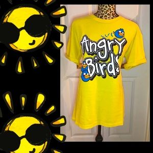 Retro Angry Birds Tee 💛 100% cotton Size AU L 💛